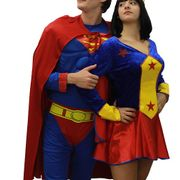 Costume Superman et Wonderwoman Mixage Déguisements